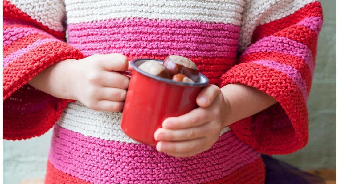 Kostenlose Anleitung: Farbenfrohe Kinderpullover Stricken