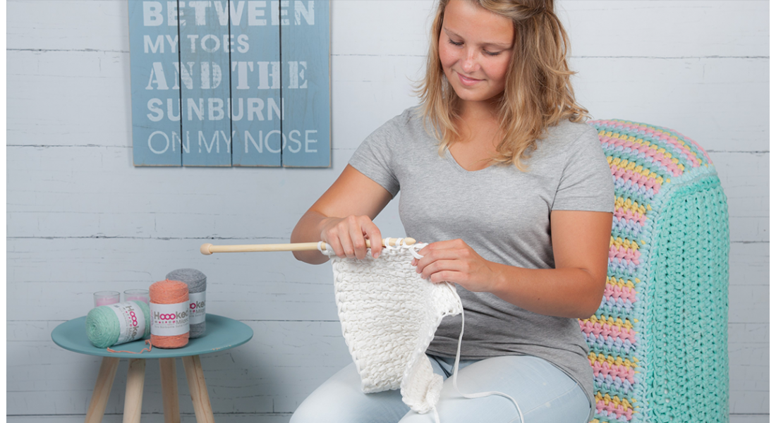 Crochet for beginners. How to crochet the double crochet and slip stitch