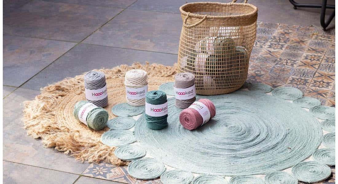 Sturdy round rug with eco-friendly Jute