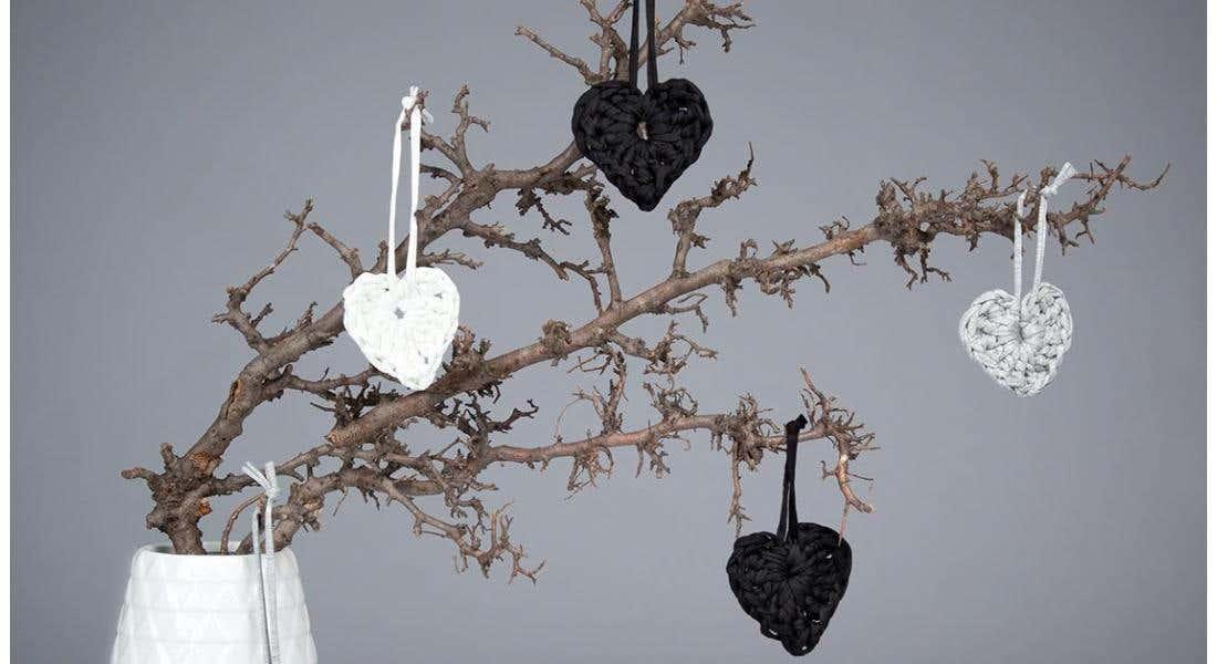 Gehaakte Valentijndecoraties