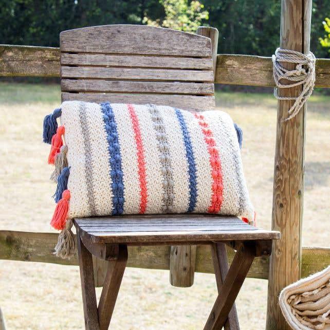 DIY Crochet Pattern Cushion Tuvalu