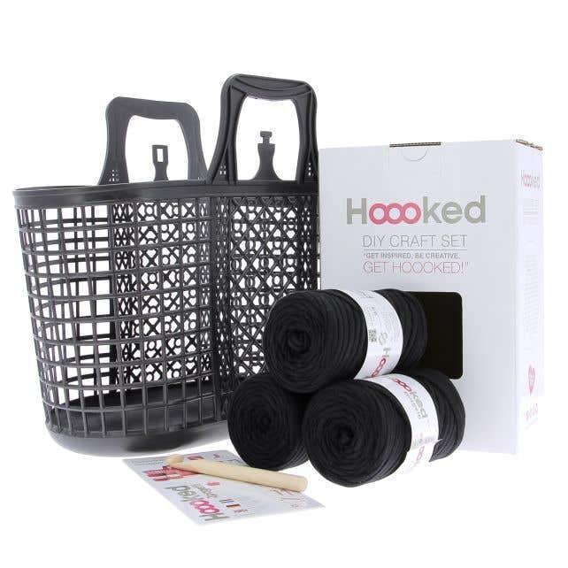 DIY Crochet Kit Shopper Pretty Black