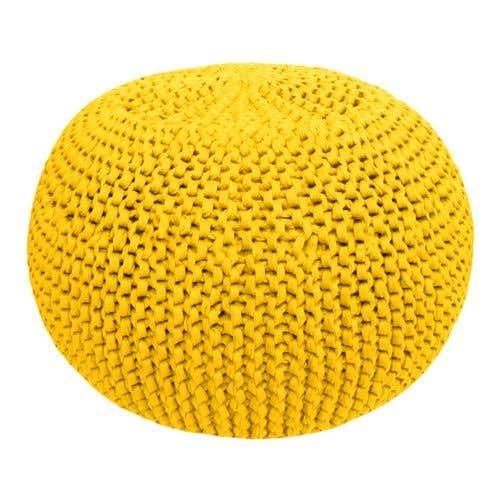DIY Crochet & Knit Kit Zpagetti Pouf Sunny Yellow