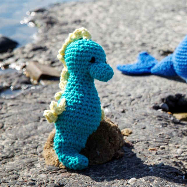 DIY Häkelanleitung Seepferdchen Bubbles Eco Barbante