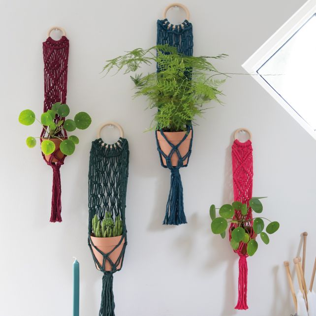 DIY Macrame Pattern Plant Hanger Bali