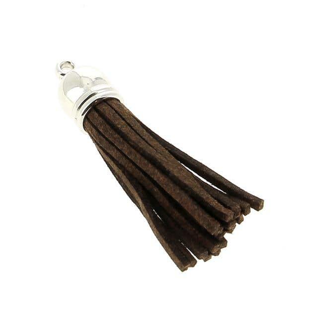 Gamuza cordón borla chocolate