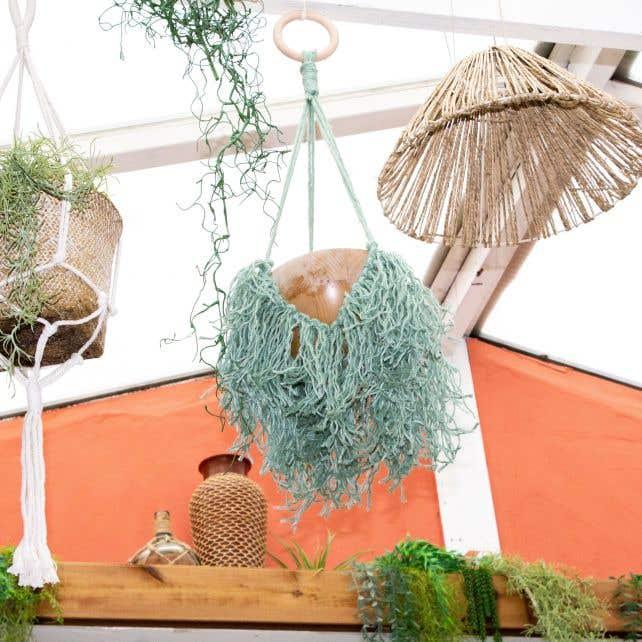 DIY Macramé Patroon Jute Planthanger Manaus