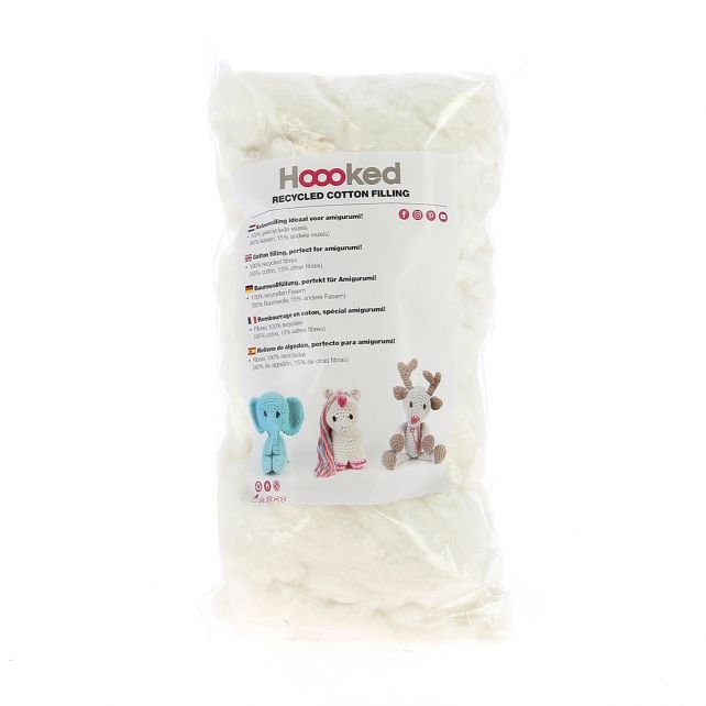 100% Recycled Cotton Filling 100gram - Pearl