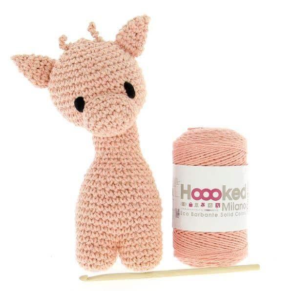 DIY Crochet Kit Giraffe Ziggy Eco Barbante Apricot