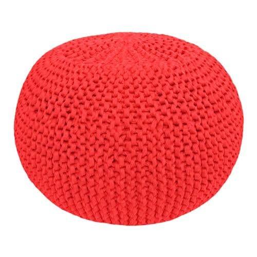 DIY Crochet & Knit Kit Zpagetti Pouf Watermelon Blush