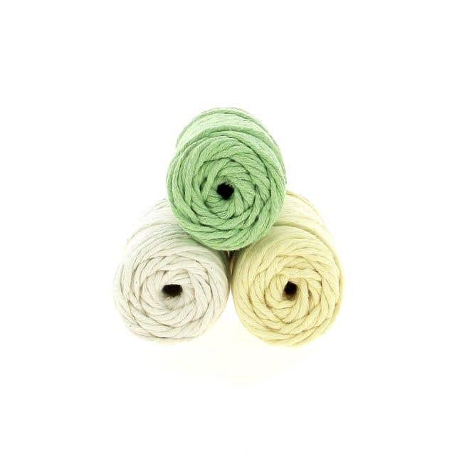 Macramé Yarn Pack Spesso Buttercup Matcha