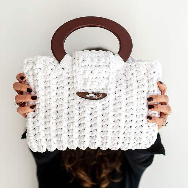 DIY Crochet Kit Zpagetti Bag Vienna Off-White