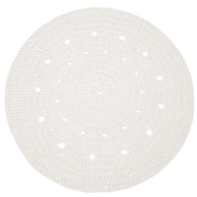 DIY Kit Crochet Round Rug Zpagetti Off-White