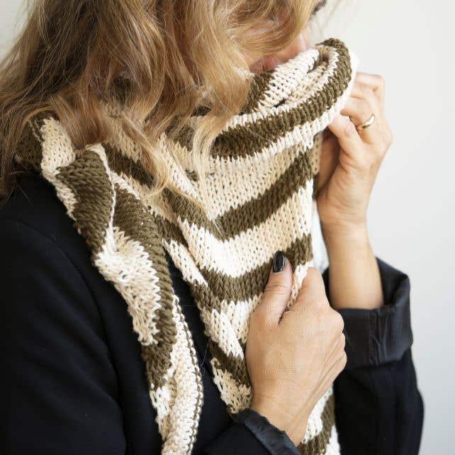 DIY Free Knitting Pattern Scarf Tramonti