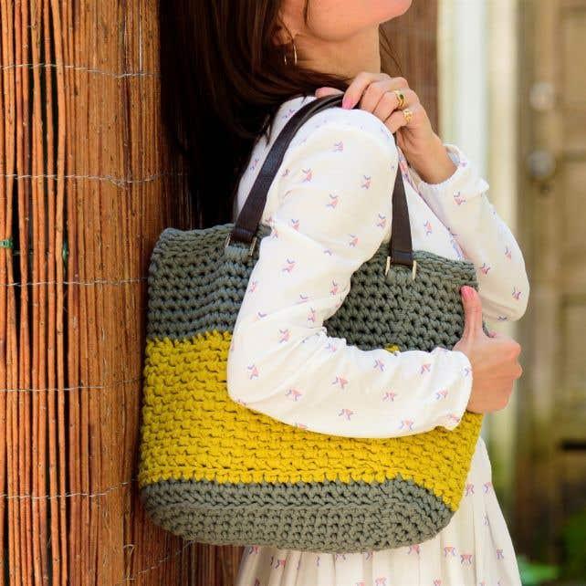 DIY Crochet Kit Valencia Bag RibbonXL Dried Herb