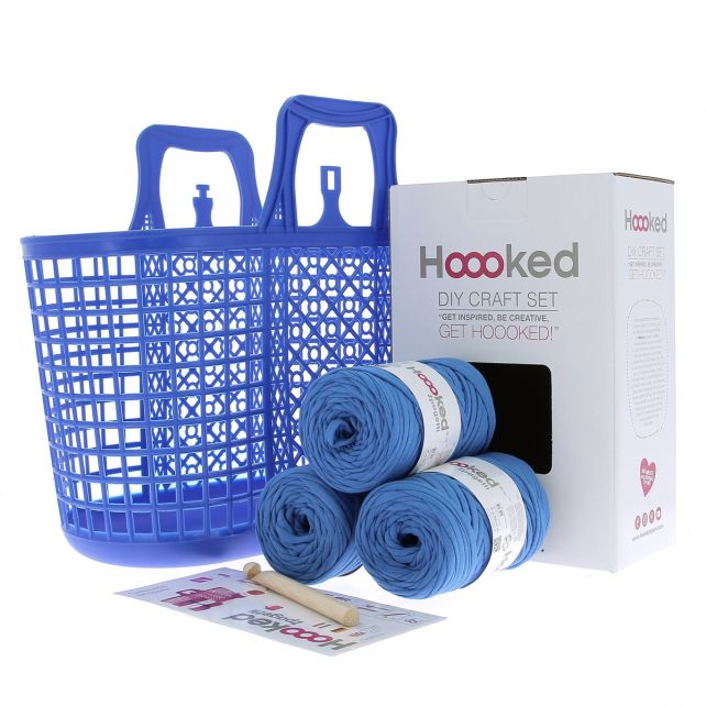 DIY Crochet Kit Shopper Blue Sky