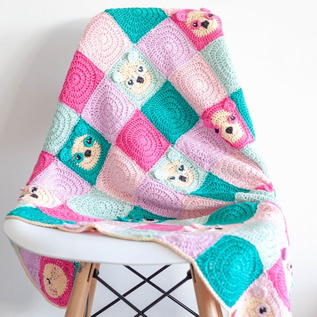 DIY Crochet Kit Blanket Panda