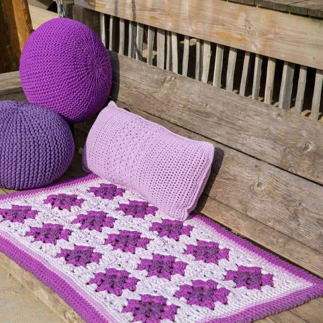 DIY Crochet Pattern Granny Squares Rug Provence Zpagetti