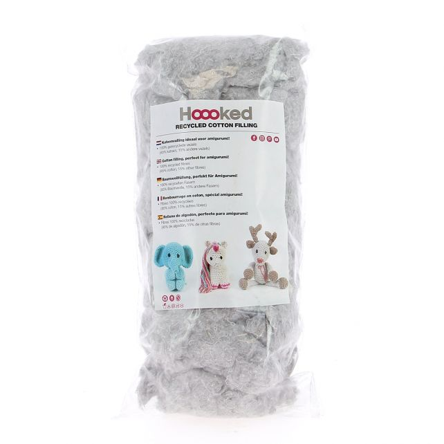 100% Recycled Cotton Filling 100gram - Cloud