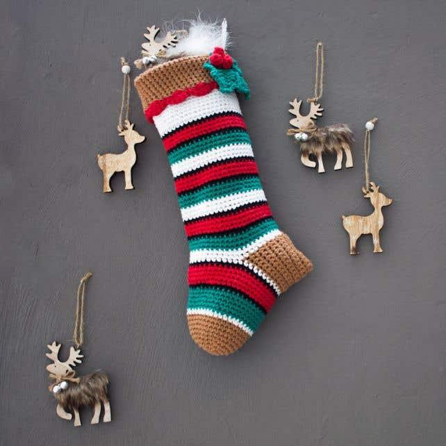 DIY Haakpakket Kerstsok Decoratie