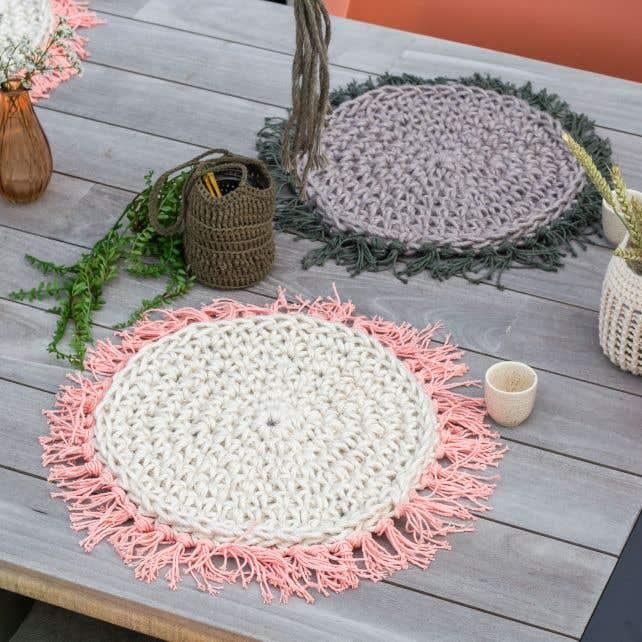 DIY Free Crochet Pattern Jute Placemat Serra