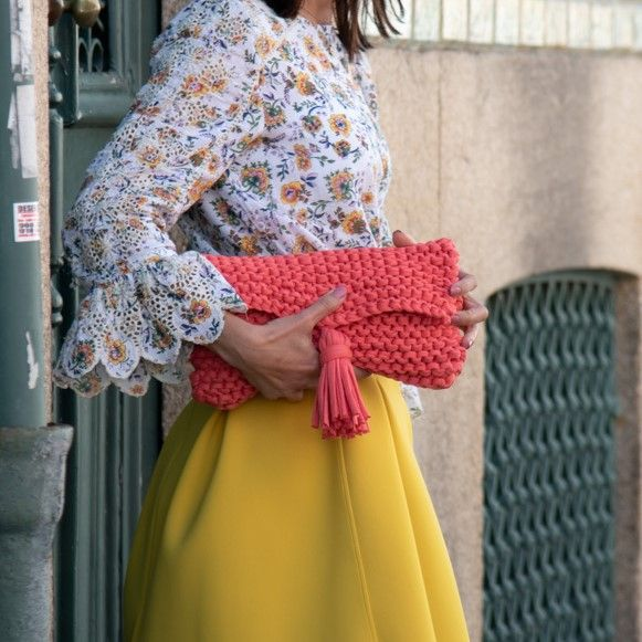 DIY Free Knitting Pattern Clutch Denise