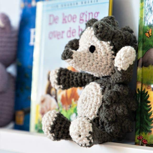DIY Crochet Pattern Hedgehog Hazel Eco Barbante