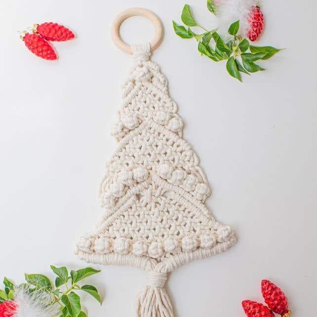 DIY Macramé Patroon Kerstboom Decoratie