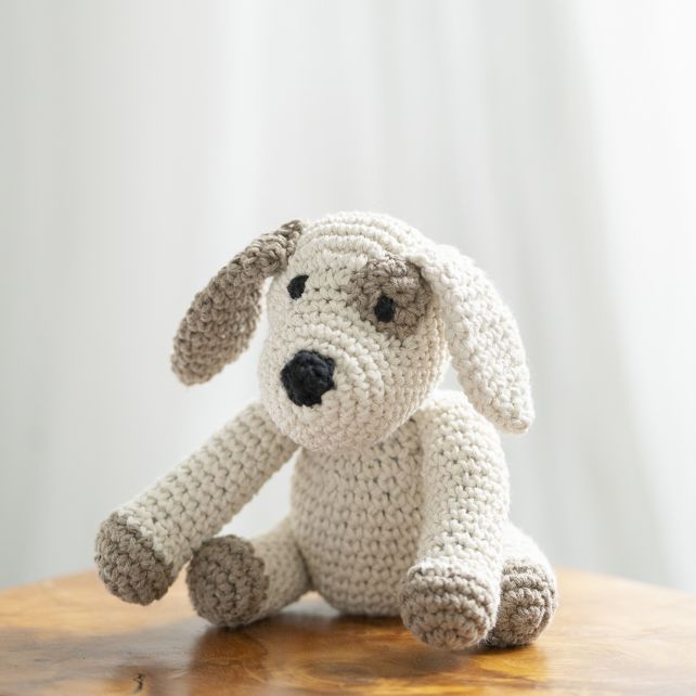 DIY Crochet Kit Puppy Millie Eco Barbante