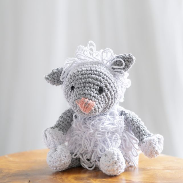 DIY Crochet Kit Lamb Lewy Eco Barbante