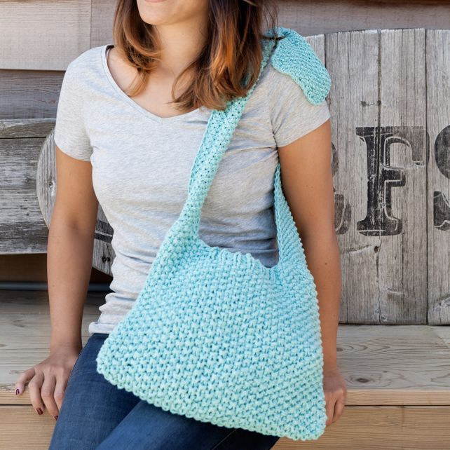 DIY Knitting pattern shoulder bag Toledo