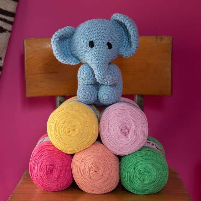 DIY Crochet Set Elephant Eco Barbante Provence
