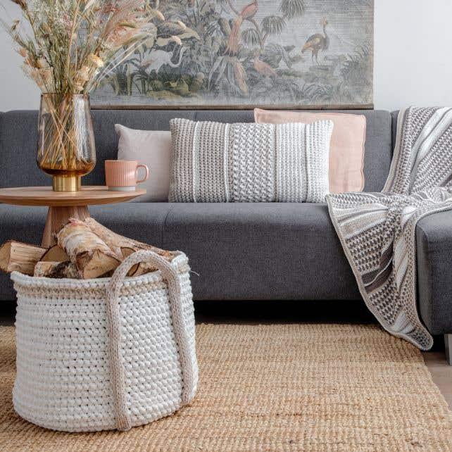 DIY Crochet Kit Rectangular Cushion Danderyd