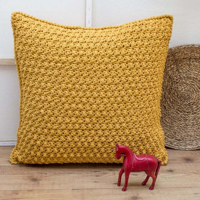 DIY Crochet Kit Floor Cushion Braga