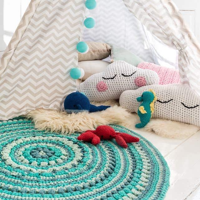 DIY Häkelset Island Teppich RibbonXL Happy Mint