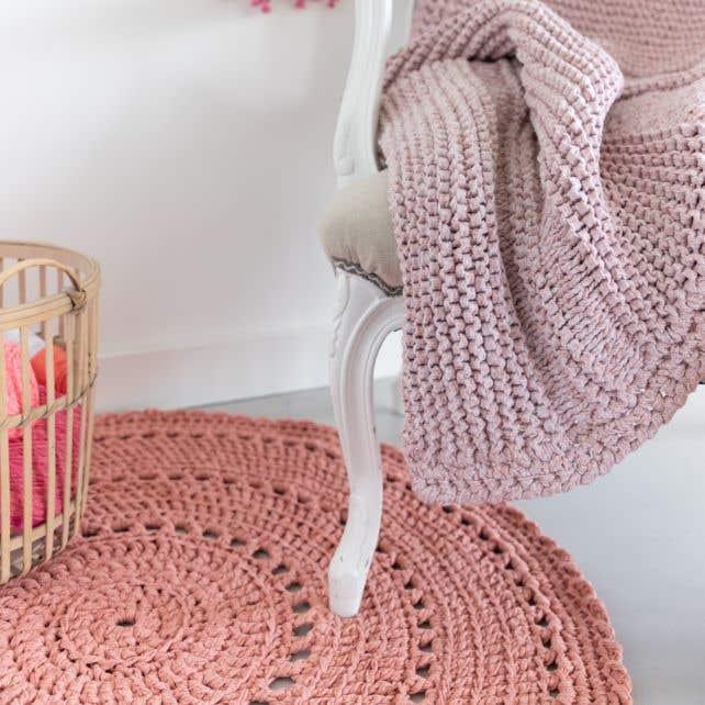 DIY Crochet pattern Round Rug Volterra