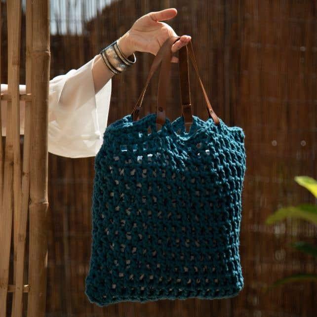 DIY Crochet Kit Tiago Bag Petrol
