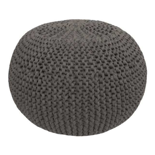 DIY Crochet & Knit Kit Zpagetti Pouf Smokey Antracite