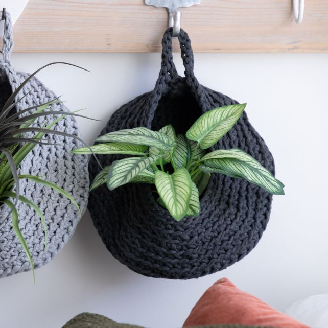 DIY Crochet Kit Storage Bag Antracite