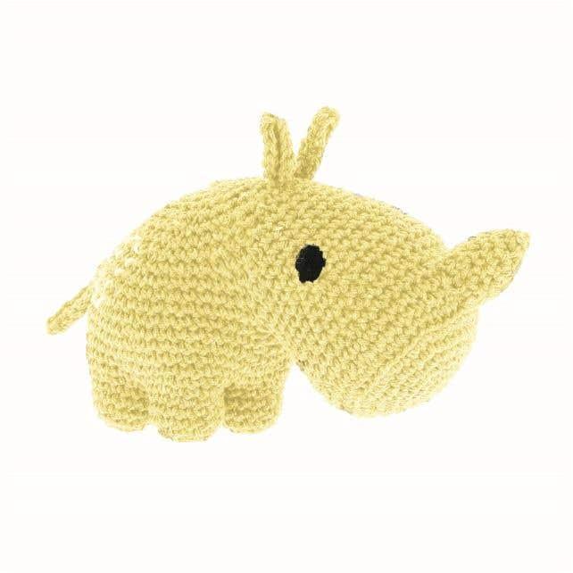 DIY Crochet Kit Rhino Dex Eco Barbante Popcorn