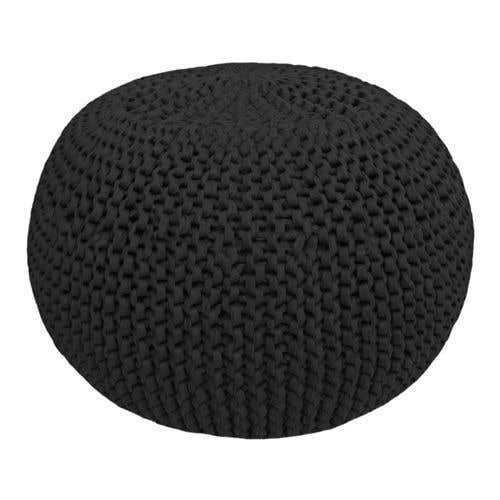 DIY Crochet & Knit Kit Zpagetti Pouf Galaxy Black