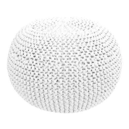 DIY Crochet & Knit Kit Zpagetti Pouf Cotton White