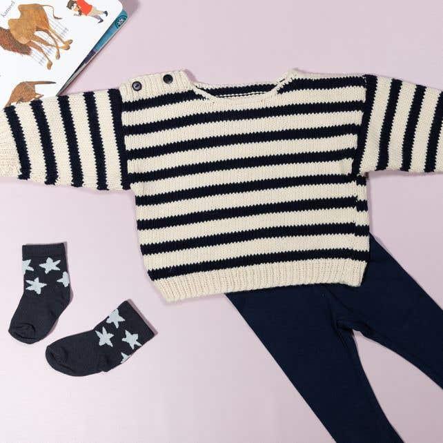 DIY Knitting pattern babysweater Ohio