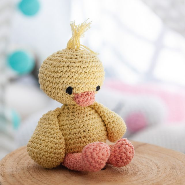 DIY Crochet Kit Duckling Danny Eco Barbante