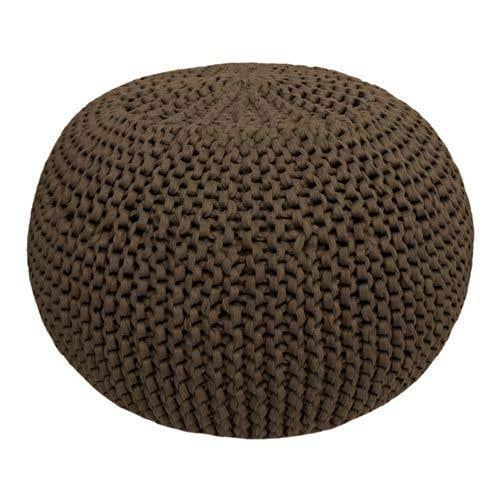 DIY Crochet & Knit Kit Zpagetti Pouf Coffee Brown