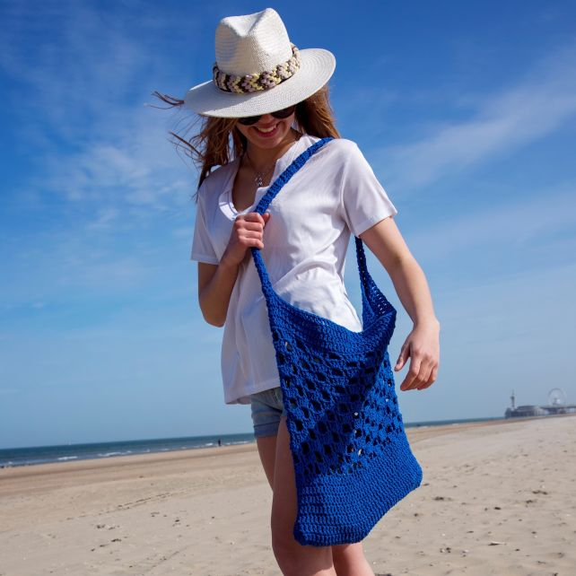 DIY Free Crochet Pattern Beach Bag Biscaia
