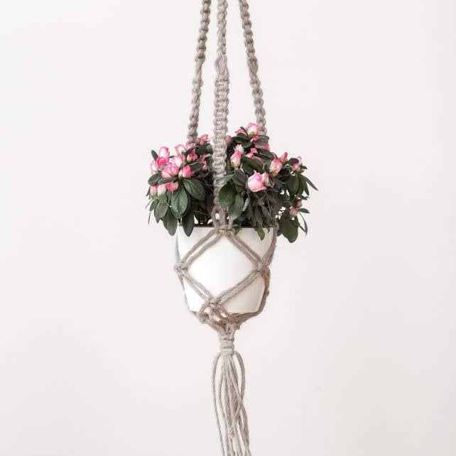 DIY Macrame Pattern Jute Hanging Basket
