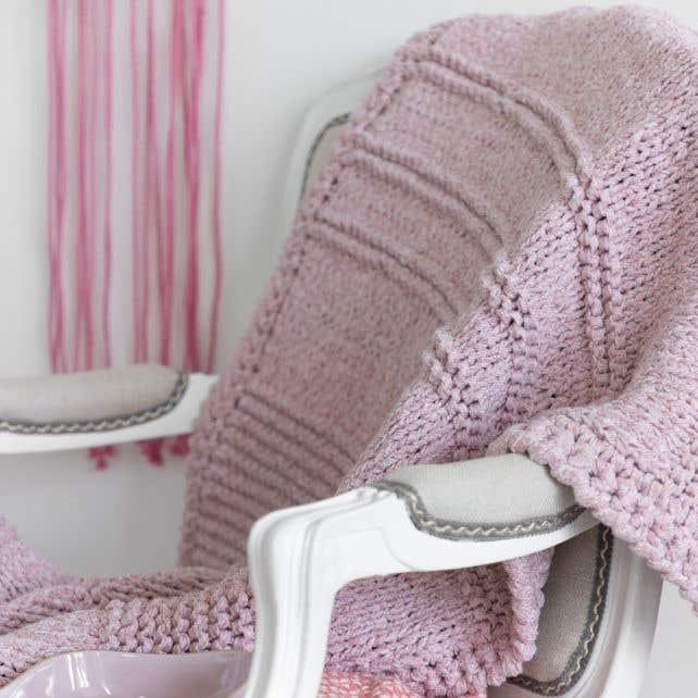 DIY Free Knitting Pattern Knit Throw Himalaya