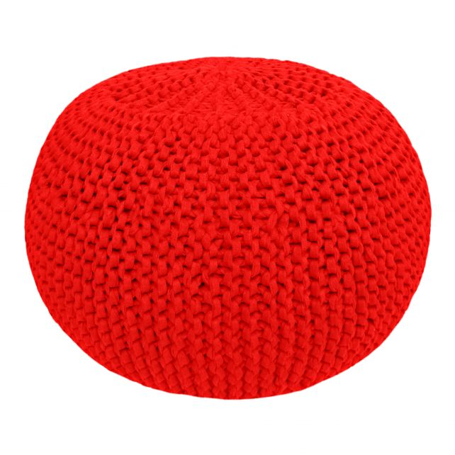 DIY Crochet & Knit Kit Zpagetti Pouf Cherry Kiss