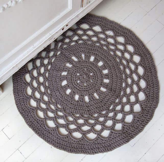 DIY Anleitung Runde Teppich Häkeln RibbonXL